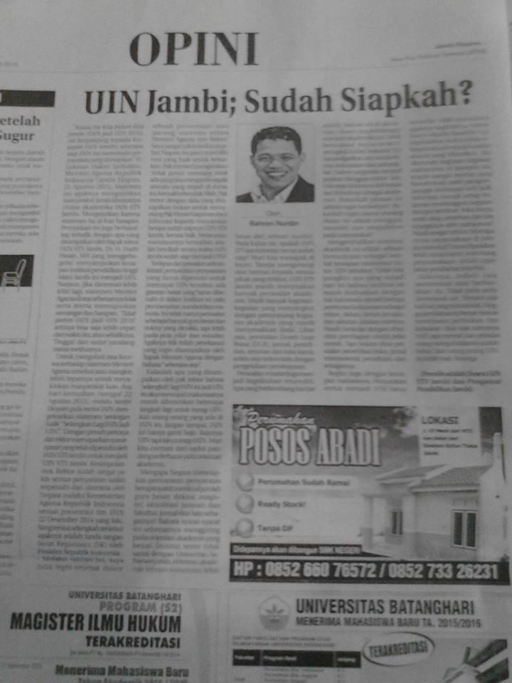 UIN Jambi siapkah
